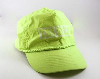 Tri Delt Baseball Cap // Neon Yellow Snapback // Lightweight Hat // Delta Delta Delta Boston University // Tri Delta