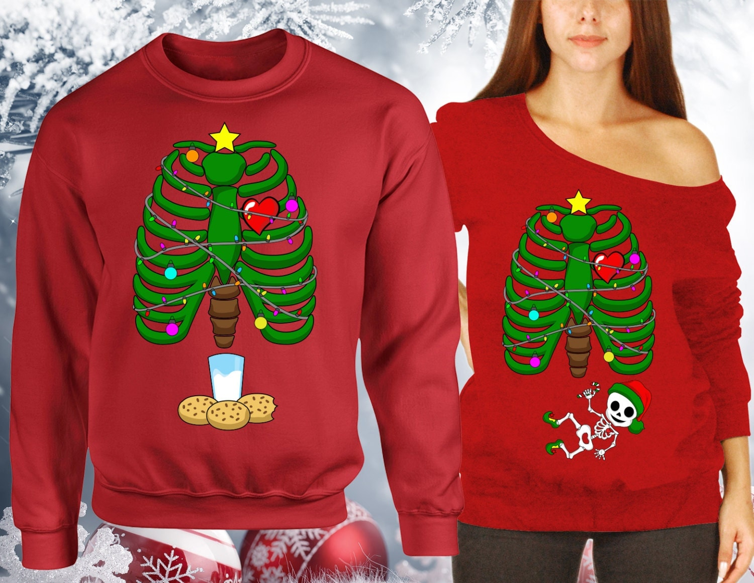 Couples tacky christmas sweater
