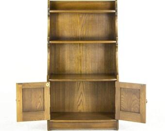 B470 Vintage Ash, Antique Ash Open Bookcase, Bookshelf, Curio Cabinet