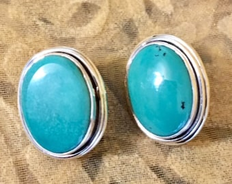 USA FREE SHIPPING!! Turquoise Sterling Silver Earrings