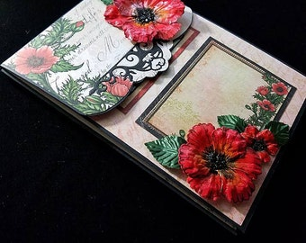 Pre-made Scrapbook Album-Poppies