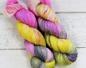 Hand Dyed 4ply Fingering Sock Yarn 75/25 SW Merino /Nylon - Contessa