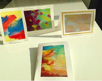 Handmade Stationery Painted With Acrylic--FREE SHIPPING!!