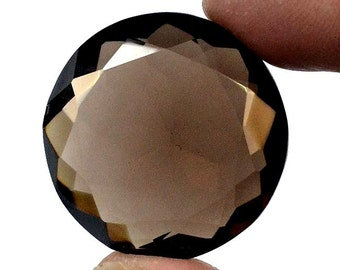 Free Shipping 58 Ct. Very Rare Smoky Quartz Faceted Gemstone Cabochon Size-27x27x10 MM Approx Aaa Quality Wholesale Price Cabochon Gemstone