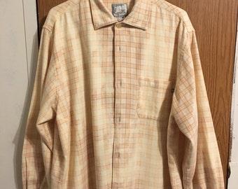 Rustic Distressed Vintage Bleached Flannel