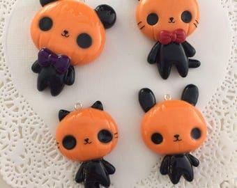 Pumpkin Animal Pendant or Charm