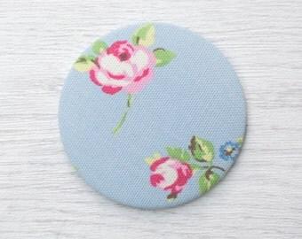 Pocket Mirror - fabric pocket mirror - hand bag mirror - gift for mum - token gift, stocking filler - gift for her - bridesmaid gift