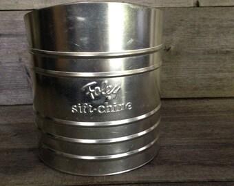 Vintage Foley Sift Chine flour sifter | Farmhouse decor