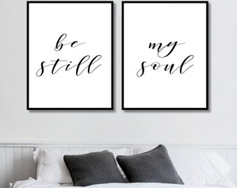 Be Still My Soul Prints // Her Poster // Bedroom Decor // Minimalist Poster // Fashion Poster // Wall Decor For Couple // Bedroom Art