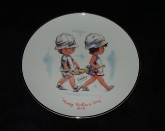 "1979 Gorham Moppets Mother's Day ""Happy Mother's Day"" Collector Plate by Fran Mar"