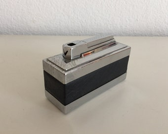 Table lighter Chronex 3000 Retro fifties sixties tafelaansteker aansteker vintage black
