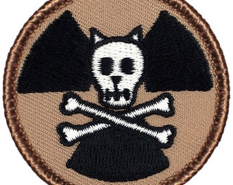 Glow-in-the-Dark Schrodinger's Cat Patch (531GL) 2 Inch Diameter Embroidered Patch