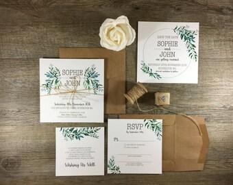 PRINTABLE Invitation Suite | The Botanist | Foliage Rustic Wedding Invitations