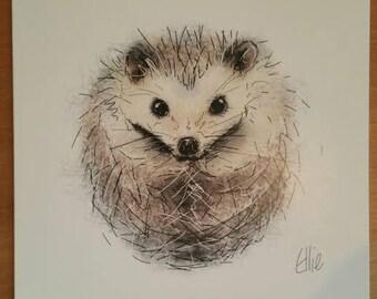 Hedgehog card // hedgehog gifts // hedgehog birthday card // hedgehog greetings card // hedgehog art // hedgehog gifts // hedgehog lovers