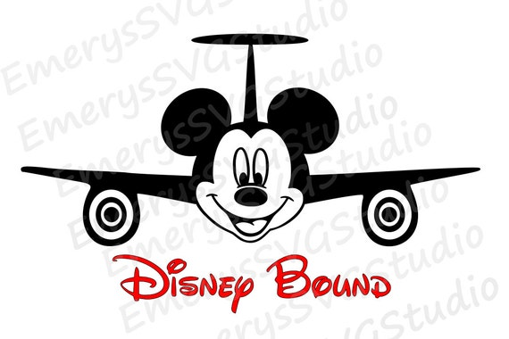 Svg Dxf File For Airplane Mickey Disney Bound