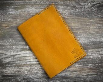 Yellow passport cover leather passport cover women holder travel holder personalized passport cover passport case slim wallet travel gift