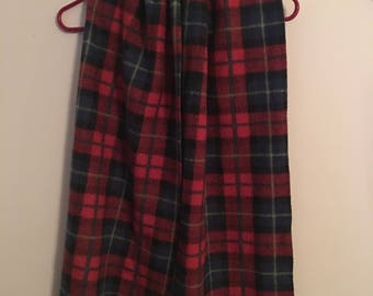 Red Plaid Cotton Scarf