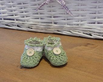 Crochet baby booties 3 months