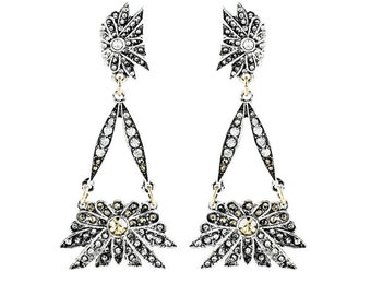 Daystar Crystal Drop Earrings