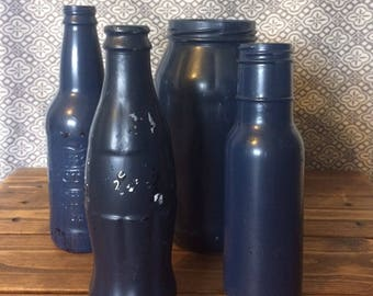 Painted jars and bottles