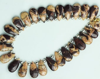 Awesome Agate , 25 piece smooth Brown Agate, 9 X 17 mm Approx