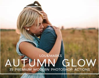 35 Professional Autumn Glow Photoshop Actions Professional Photo Editing for Portraits, Newborns, Weddings By LouMarksPhoto