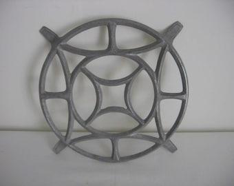 Early 20th Century French Vintage Dessous de Plat Alu  / Trivet / Pot Holder / Aluminium Circa 1920s