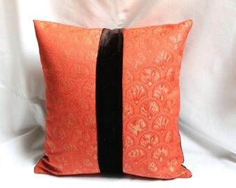 40x40 floral silk jacquard bohemian cushion cover, home decorative cotton pillow cover, design pillows