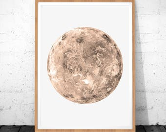 Planet Print, Space Art, Venus Poster, Venus Printable, Venus Decor, Space Print, Planet Poster, Planet Printable,Planet Wall Art,Planet Art