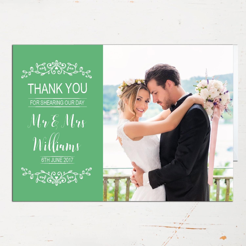 Photo Thank You Card Photograph Wedding Photograph Thank You – Wedding Thank You Cards Uk