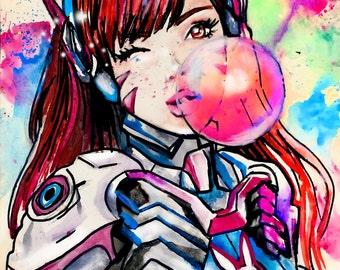 D.va Bubblegum Print