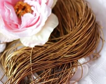 Golden Brown Purl-Goldwork Purl-Gold Wire-Metallic Rough Wire- Dapka
