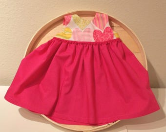 Sweet Hearts Infant Dress and Booties and Hair Bow