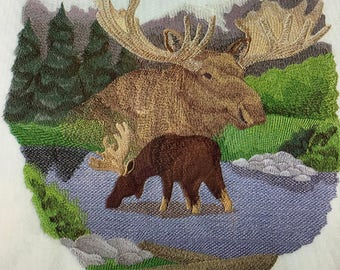 """Embroidered """"Spirit Of The Moose"""" Shirt"""