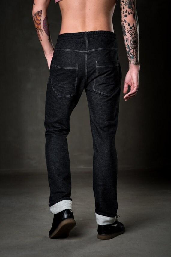 schwarze m nner jeans moderne m nner hosen hose aus. Black Bedroom Furniture Sets. Home Design Ideas