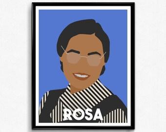 Rosa Parks Poster- Feminist Print, Minimalist Wall Art