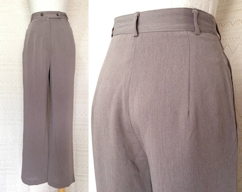 """High waisted pants, Petite / XS """"Dannah"""" Greyish purple vintage high waisted trousers, high waisted pants, straight trousers, 80s clothing"""