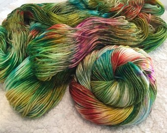 Hand dyed yarn 2 skeins Sport weight BFL