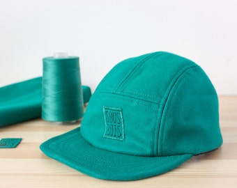 The Emerald WINTERCAP - Handmade and recycled 5 panel hat/cap from Montreal