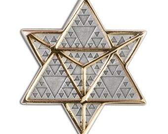 Infinite Possibilities Lapel Pin - Hat Pin - Enamel Pin - Sacred Geometry Pin ( Gold )