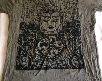 Buddha t-shirt, hippie t-shirt, yoga wear, spiritual clothing, festival style, boho t-shirt, yoga clothing, meditation, men's t-shirt.