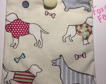 Dog /Puppy iPad mini or E-Reader fabric case.