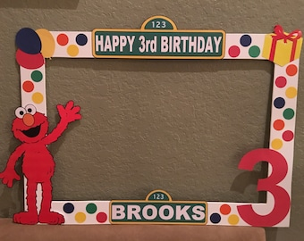 "Sesame Street Photo ""booth"" Prop Frame, Sesame Street party decorations, Sesame Street party supplies, Sesame Street theme"