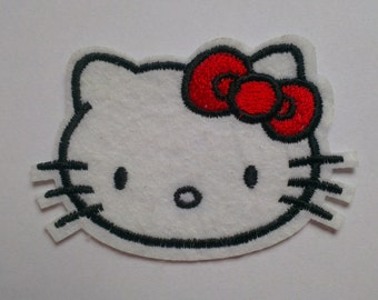 Hello kitty cat iron on applique girls iron on patch hello