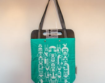 Tote Bag light green Kiss African