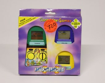 Vintage L.C.D. Game inter-change-able-cartridge games, years 80s