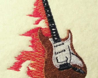 Embroidery Designs Guitar Instant download