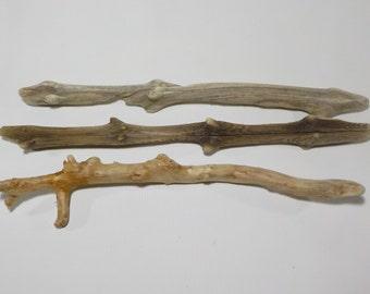 3 Small Driftwood Sticks 12-14''/32-37cm Beautiful Shaped Driftwood Sticks, Macrame Wall Hanging Sticks, #254