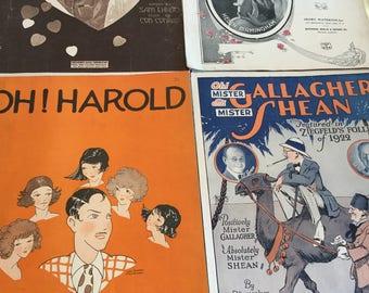 Vintage sheet music Lot of 4  1918-1924