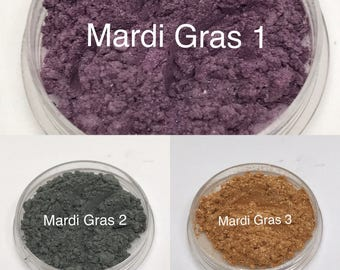 Mardi Gras Purple, Green & Gold Eyeshadow Collection